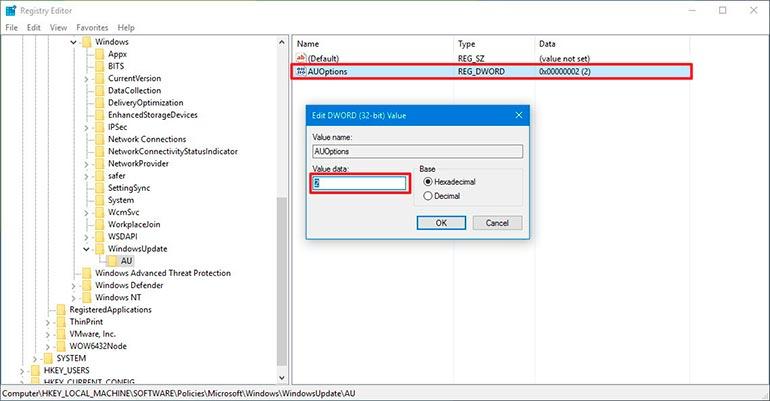Настройка Dword параметра Windows 10